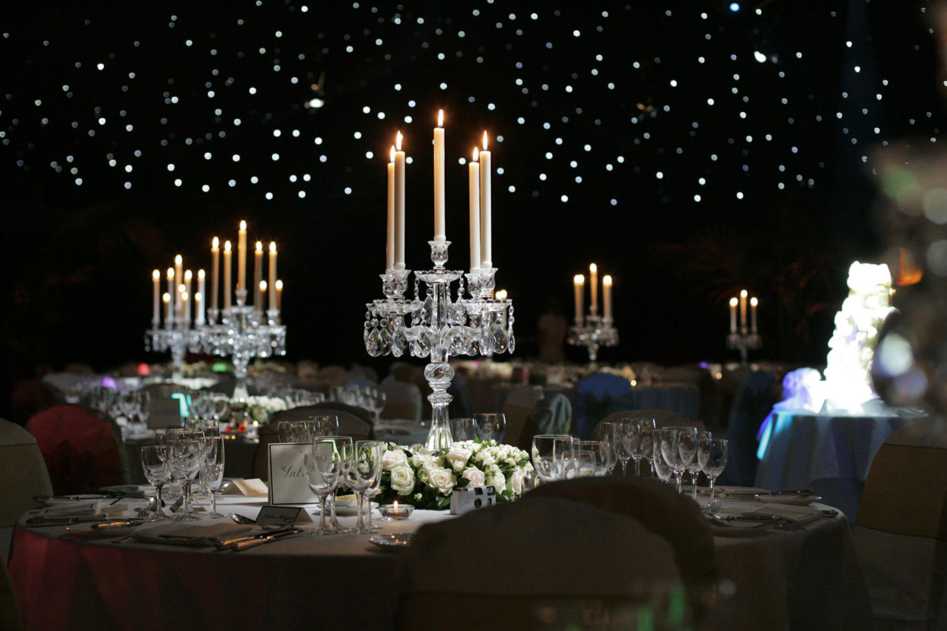 Crystal Candelabra table centre hire