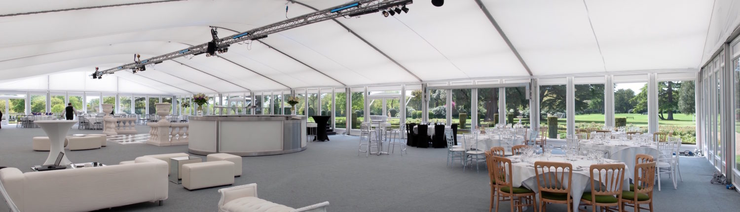 Curved roof marquee hire