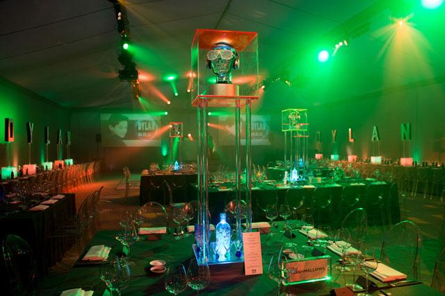 DJ head table centre