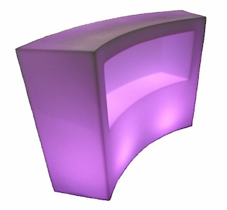 LED Curved bar hire
