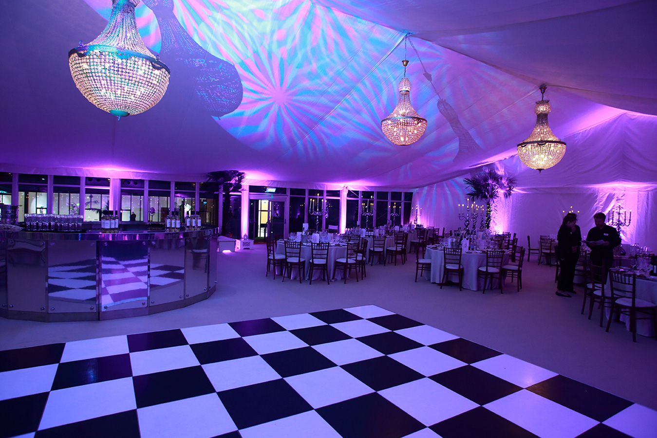 Marquee chandelier hire