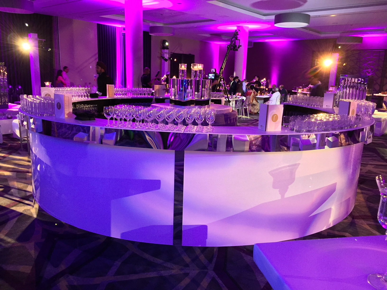 White circular bar hire