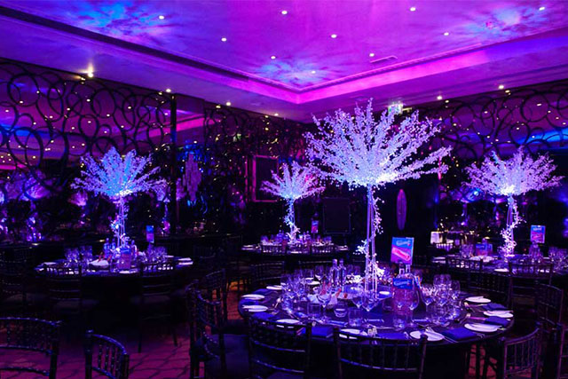 crystal tree table centres